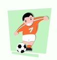 funny little kids play soccer vector image vector image