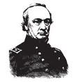 general henry w halleck vintage vector image vector image