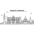 germany hannover architecture line skyline vector image vector image