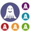 ghost icons set vector image vector image