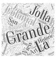 Grande Colonial La Jolla Word Cloud Concept vector image vector image