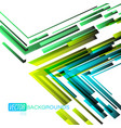 green angle shapes scene on a white vector image vector image
