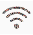 group people shape WI FI vector image vector image