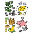 hand drawn Money art vector image vector image