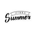 hand drawn summer vibes text trendy lettering vector image vector image