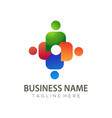 human resources logo and icon design vector image