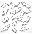 illustrated set of arrows vector image vector image