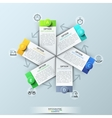 Infographic design template with 6 rectangular vector image vector image