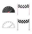 isolated object of car and rally logo set of car vector image vector image