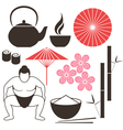 Japanese culture vector image vector image