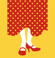 legs of flamenco dancer and typical spanish polka vector image vector image