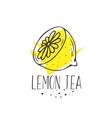 Lemon tea print vector image vector image