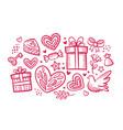 love wedding concept set decorative elements vector image vector image