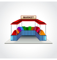 Market building isolated vector image vector image