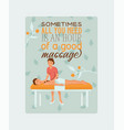 medical massage people poster cards vector image vector image
