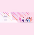 mix race businesspeople running away from downward vector image vector image