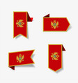 montenegrian flag stickers and labels vector image vector image