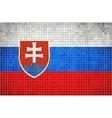Mosaic Flag of Slovakia vector image vector image