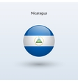 Nicaragua round flag vector image vector image