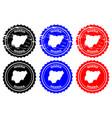 nigeria rubber stamp vector image