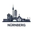 nuremberg skyline emblem vector image vector image