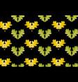oak leaf on black background vector image