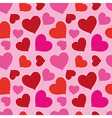 Pattern Of Hearts Seamless Texture vector image vector image