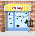 pet shop store vector image vector image