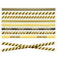 Police Line Tape vector image vector image