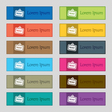 Rent icon sign Set of twelve rectangular colorful vector image