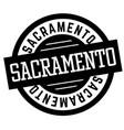 sacramento black and white badge vector image vector image