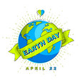 save our planet earth ecology eco environmental vector image vector image