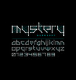 science fiction style font design alphabet vector image vector image