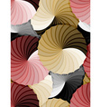 Seamless abstract rosette gradient pattern vector image vector image