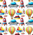 Seamless different kind of toys vector image vector image