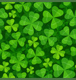 seamless pattern with clover three and four leaves vector image