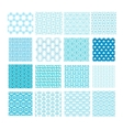 set abstract geometric seamless patterns vector image vector image
