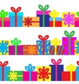 Set of seamless series of gift boxes vector image vector image
