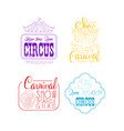 set of sketch signs for circus and mardi gras vector image