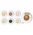 set realistic coffee cup cappuccino latte vector image vector image