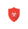 shield with biohazard symbol vector image
