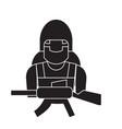 soldier equipment black concept icon vector image