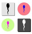 sperm flat icon vector image vector image