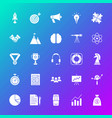 startup solid icons vector image vector image