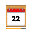 The Twenty-two days on the calendar vector image vector image