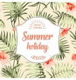 Tropical holiday card vector image vector image