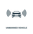 unmanned vehicle icon premium style design from vector image vector image