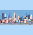 urban landscape or cityscape with buildings vector image vector image