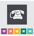 Vinage phone vector image vector image