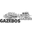 why invest in a gazebo text word cloud concept vector image vector image
